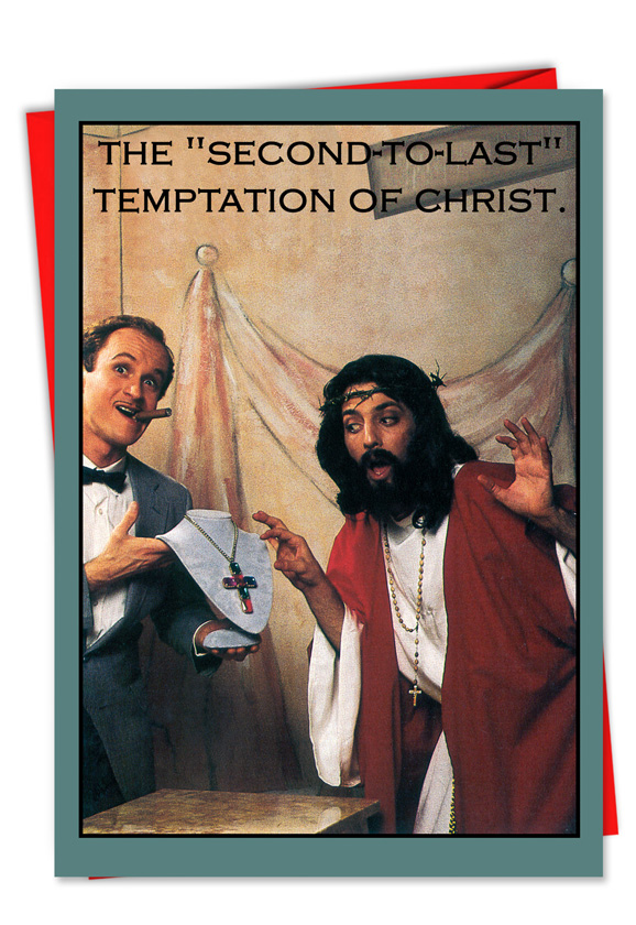 Funny Christmas Greeting Card from NobleWorksCards.com - Temptation Of  Christ