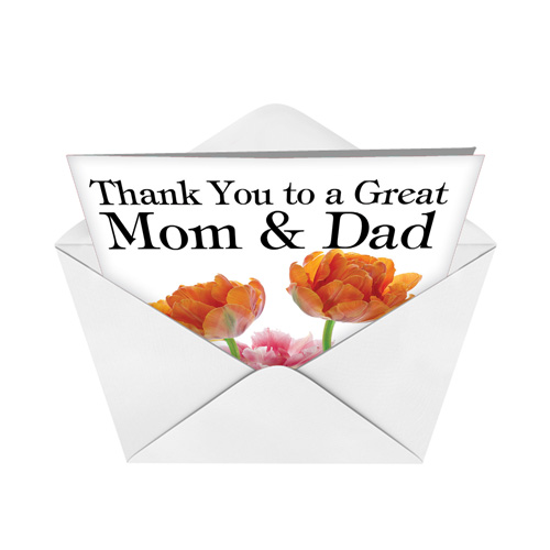 Thank you to a great mom and dad red rocket paper card nobleworks hysterical thank you printed greeting card from nobleworkscards thank you to a great m4hsunfo
