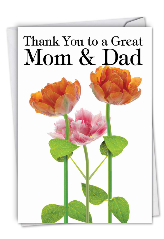 thank you to a great mom and dad red rocket paper card nobleworks