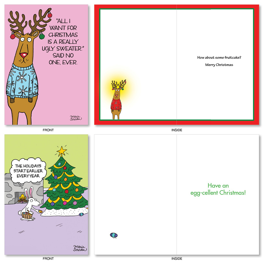 hysterical christmas printed greeting card by maria scrivan from nobleworkscardscom three wise guys - What Do Guys Want For Christmas