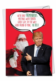 Trump Meetings With Santa Card