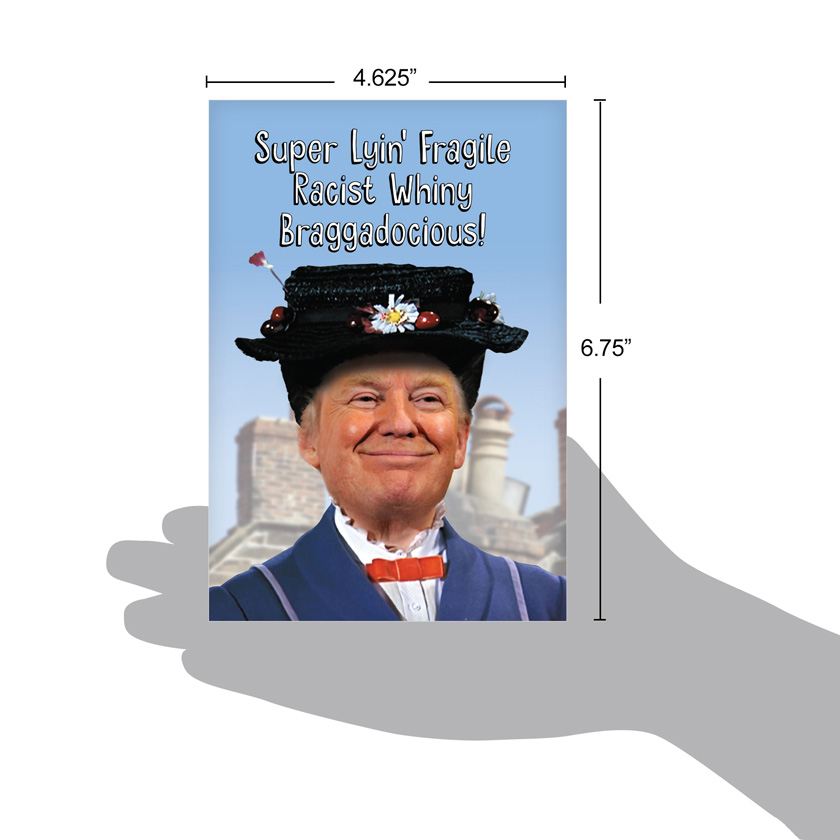 Trump poppins red rocket birthday paper card nobleworks hysterical birthday paper greeting card from nobleworkscards trump poppins image 4 bookmarktalkfo