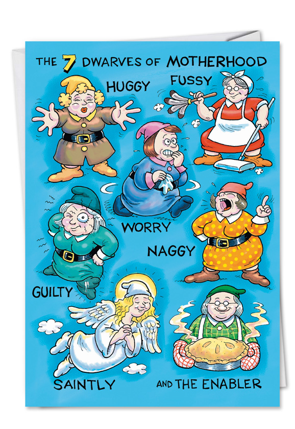Type Of Mother Dwarves Humorous Birthday Mother Paper Card