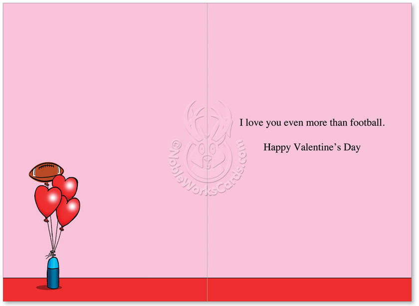 Weekends Are for Football Valentines Day Greeting Card – Football Valentines Day Cards
