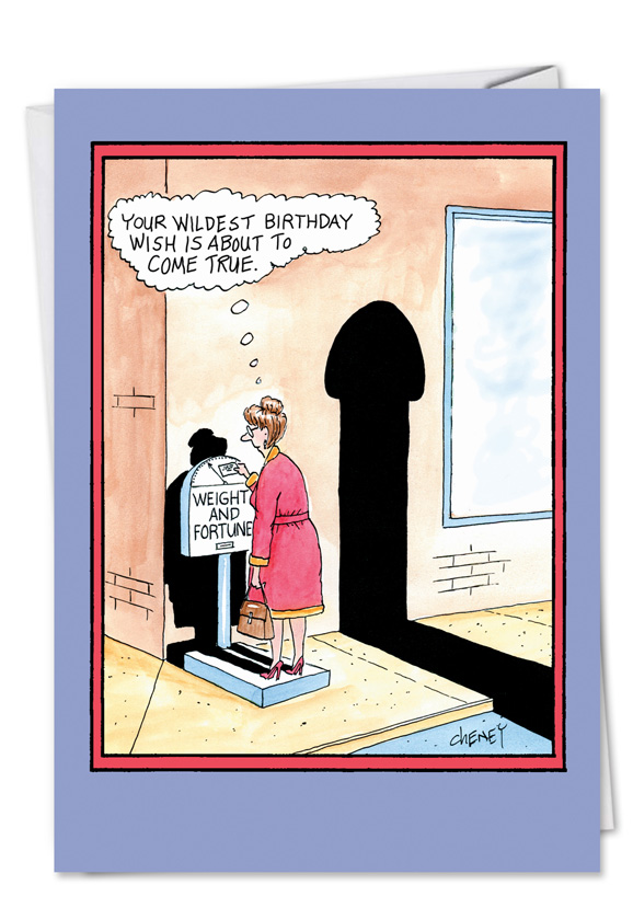 Weight And Fortune Funny Birthday Card