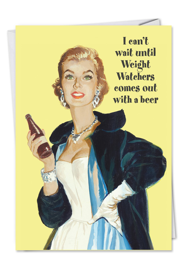 Unique adult humor all occasions greeting card weight watchers beer m4hsunfo