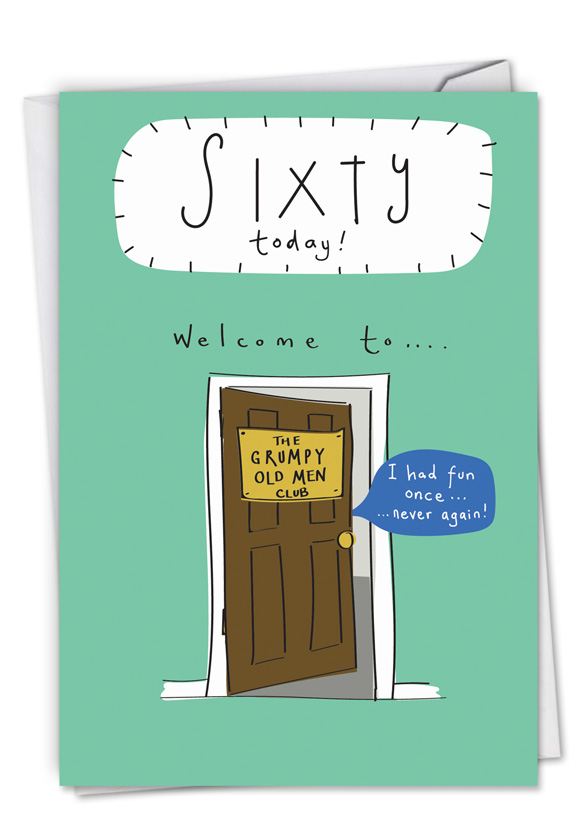Hilarious Welcome To 60 Birthday Humor Paper Card