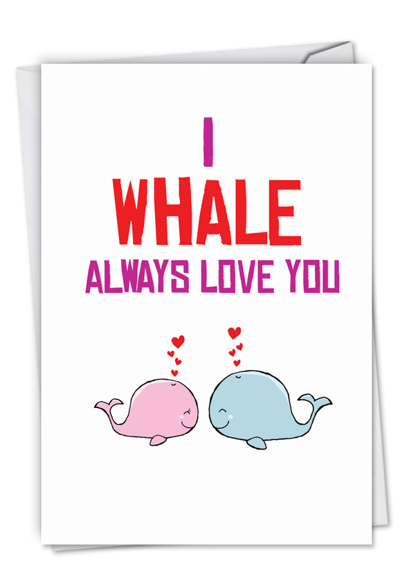 Whale love nobleworks by design birthday greeting card by nobleworks creative birthday printed greeting card from nobleworkscards whale love m4hsunfo