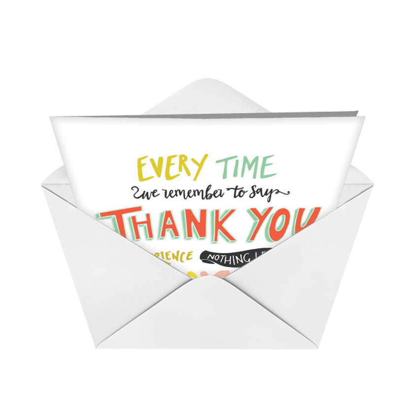 Words Of Appreciation D Stylish Thank You Paper Greeting Card