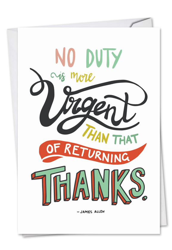 creative thank you printed greeting card from nobleworkscardscom words of appreciation