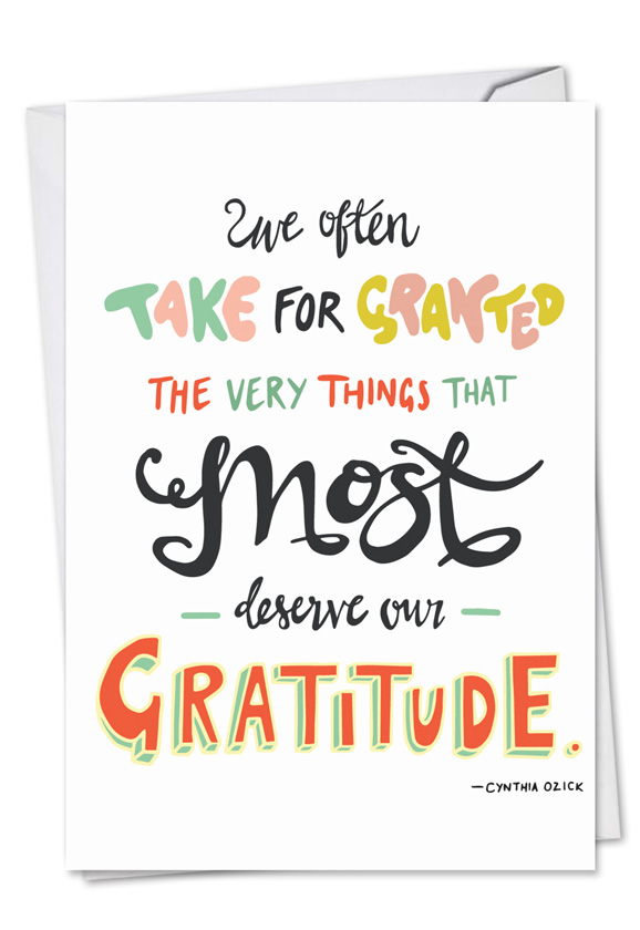 words of appreciation  creative thank you printed greeting
