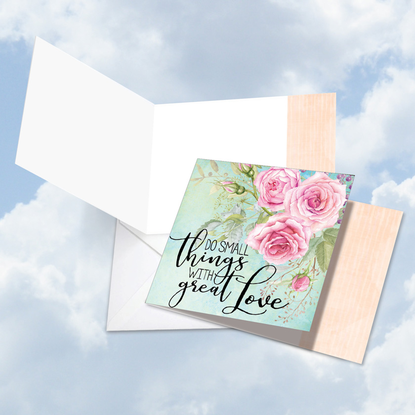 Square words of encouragement great love nobleworks by design creative blank square printed greeting card by batya sagy from nobleworkscards words of m4hsunfo