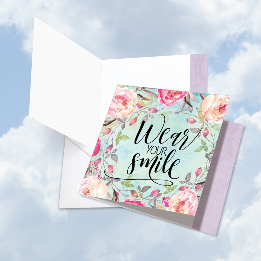 Big square words of encouragement smile nobleworks by design creative blank jumbo square printed card by batya sagy from nobleworkscards words of m4hsunfo