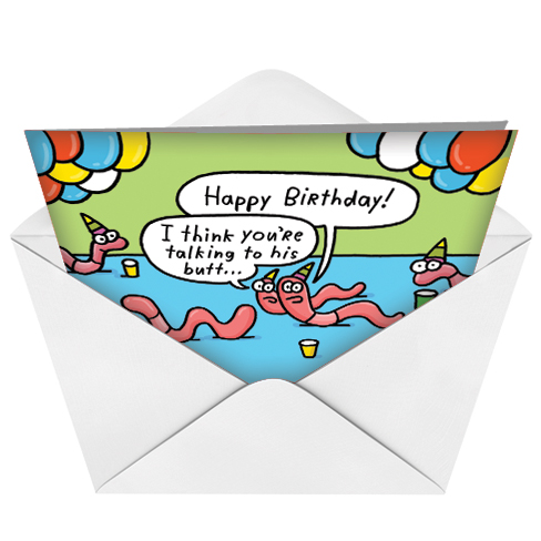 Worm Birthday Funny Greeting Cardnobleworks