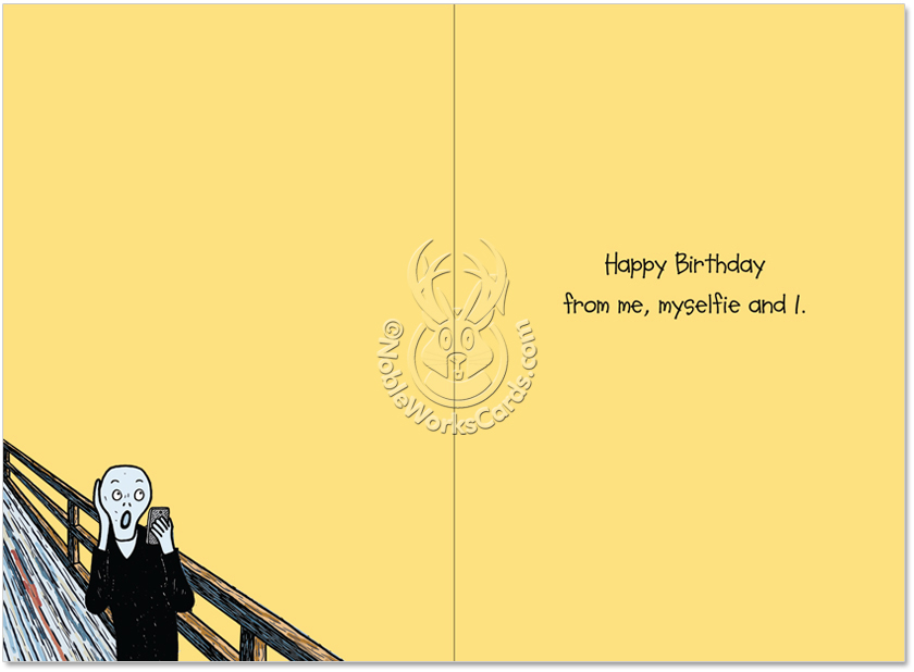 Worst Selfie Ever Birthday Joke Paper Card Tony Zuvela