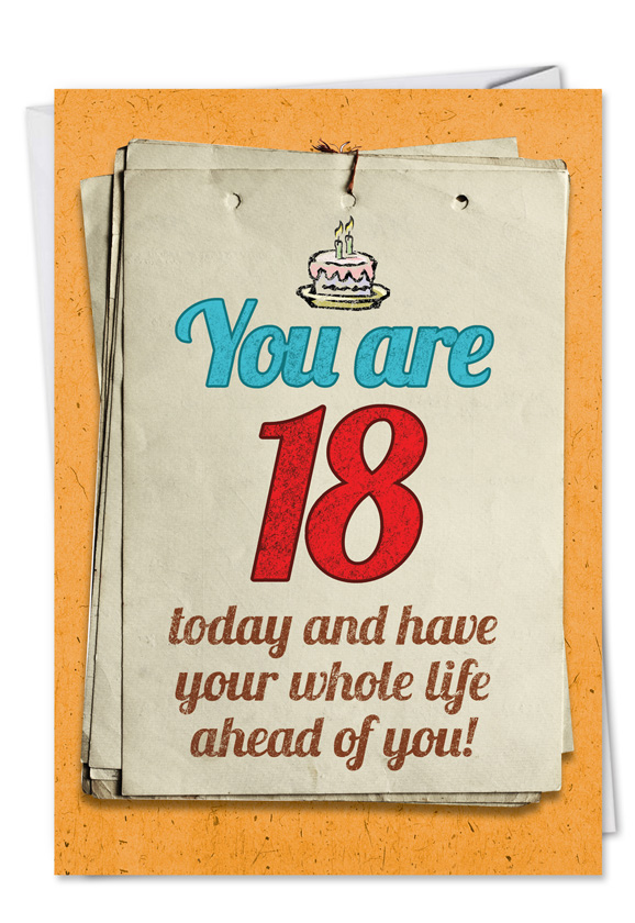 You Are 18 Bitch Funny Birthday Greeting Cardnobleworks