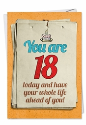 Funny Happy 18th Birthday Cards