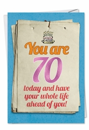 Hilarious Happy 70th Birthday Cards