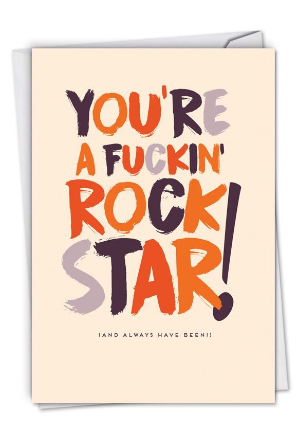 Youre a rock star funny congratulations paper greeting card funny congratulations paper greeting card by offensivedelightful from nobleworkscards you m4hsunfo