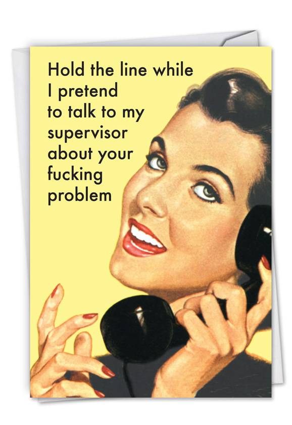 Your fucking problem funny administrative professionals day card hilarious administrative professionals day printed greeting card by ephemera from nobleworkscards your fucking m4hsunfo