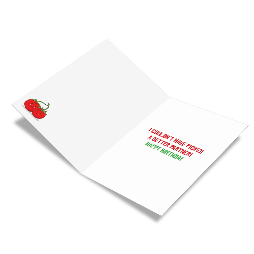 Yummy puns tomatoes nobleworks by design birthday card by nobleworks stylish birthday printed greeting card from nobleworkscards yummy puns tomatoes image 1 m4hsunfo