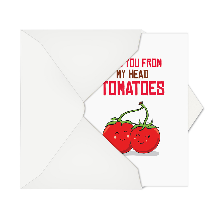 Yummy puns tomatoes nobleworks by design birthday card by nobleworks stylish birthday printed greeting card from nobleworkscards yummy puns tomatoes image 2 m4hsunfo