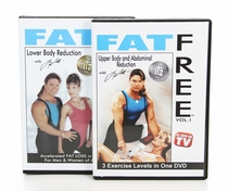Fat Free DVD Series  - Set of  (2)  DVD's