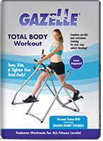 The Gazelle Total Body Workout DVD + FREE SHIPPING