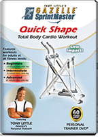 Tony Little's Quick Shape Total Body Cardio Workout DVD + FREE SHIPPING