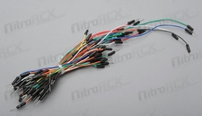 65pcs Bread board tie line Wire Breadboard plug cable (Assorted Color)
