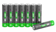 8-pcs AAA 800mAh NiMH Rechargerable Battery