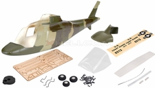 A109 450 Glass Fiber Pre-Painted  Fuselage Green 67P-450-A109-403-Green