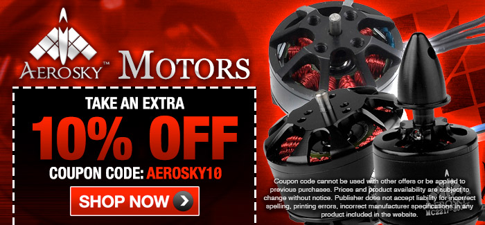 Aerosky 10% Off Brushless motors