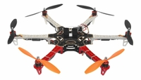 AeroSky 550 Drone  6 Channel Hexacopter Almost Ready to Fly (Red) RC Remote Control Radio with (6)OutRunner Brushless 920KV Motors, (6)40A Hobbywing SkyWalker Brushless ESCs