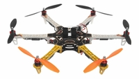 AeroSky 550 Drone  6 Channel Hexacopter Almost Ready to Fly (Yellow) RC Remote Control Radio with (6)OutRunner Brushless 920KV Motors, (6)40A Hobbywing SkyWalker Brushless ESCs
