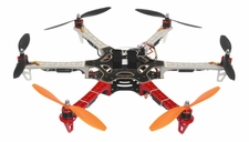 AeroSky 550  6 Channel Hexacopter Ready to Fly 2.4 G (Red) RC Remote Control Radio