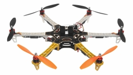 AeroSky 550  6 Channel Hexacopter Ready to Fly 2.4 G  (Yellow) RC Remote Control Radio