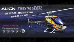 Align RC 6 Channel Helicopter T-REX 700E DFC HV Combo RH70E04X ARF