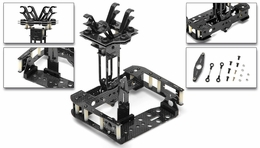 C6 Quad Custom Carbon Fiber Camera Mount 05H120-Carbon-PTZ
