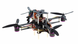CR4-230 QuadCopter Drone w/ MWC Board Brushless Motor, 12A ESC ARF (Black) RC Remote Control Radio