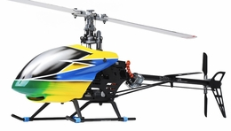 Dynam E-Razor 450 Flybarless Metal 2.4ghz Ready to Fly  6 Channel Helicopter (Yellow) RC Remote Control Radio