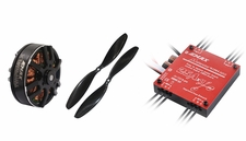 EMAX Quadcopter 650mm Combo 1 (4x MT3506-650kv + 4x 25A Multirotor 4 in 1 ESC + 2 pair x 1147 CW,CCW Prop) 66P-122-Quadcopter-650mm-Combo-1
