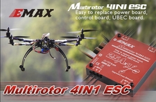 EMAX Simon Series Multirotor 4 in 1 ESC (4*30A) 66P-101-Multirotor-4IN1-ESC-25A