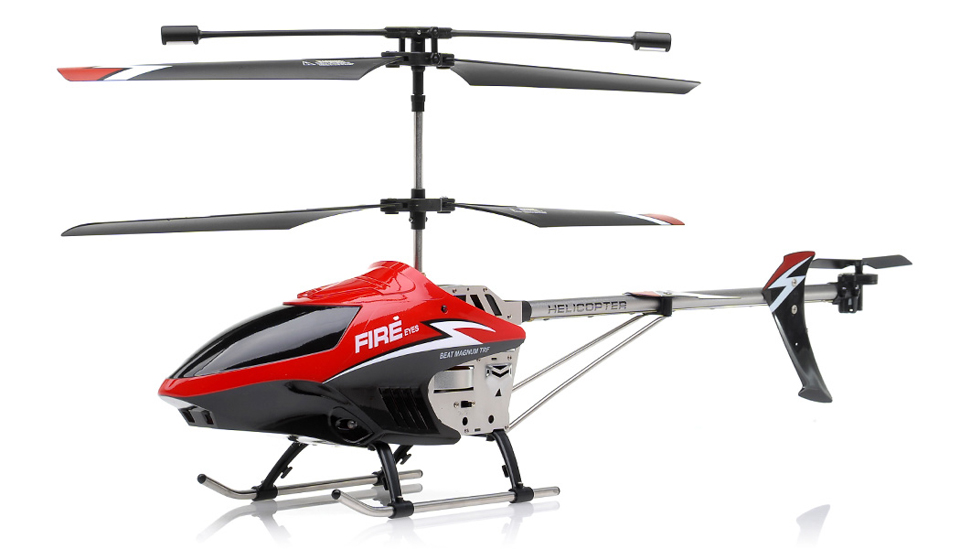 Fire Eyes 35 Channel Aerial Camera Helicopter RTF With External Gyro LED Transmitter