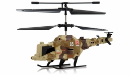 Fire Wolf Infrared  Mini Helicopter 3 Channel RTF with LED Transmitter (Camo) RC Remote Control Radio