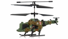 Fire Wolf Infrared  Mini Helicopter 3 Channel RTF with LED Transmitter (Green) RC Remote Control Radio