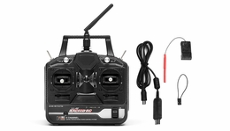 Fly Sky CT6B OEM Version Exceed RC 6-Ch 2.4Ghz Transmitter w/ Receiver (Full Version) for RC Helicopters & Airplanes ExceedRC-24GHz