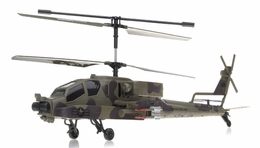 GunShip Focus 3396 Co-Axial 3.5 Channel  Helicopter RTF + Built in Gyro (Green) RC Remote Control Radio