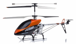 "Hero RC  26"" H853 Newest 3 Channel Outdoor Volitation Metal  Helicopter w/ Built in Gyro (Orange) RC Remote Control Radio"