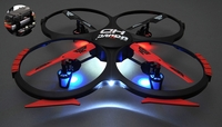 Hero RC Exclusive UDI U818A HD Advance 4CH 6 Axis QuadCopter Remote Control Drone 2.4ghz Ready to Fly w/ HD Camera w/ Return to Home Function w/4GB SD card 3 Batteries